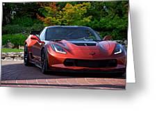 201x  Corvette 'copperhead' C7 Greeting Card