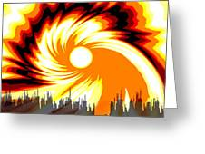 205 - Poster Climate Change  2 ... Burning Summer  Sun  Greeting Card