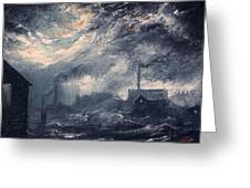 20th Century Industrial Landscape Greeting Card