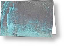 Blue Metal Greeting Card