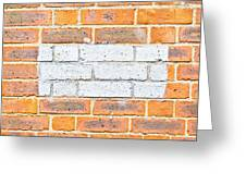 Brick Wall Greeting Card