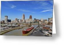 Cleveland Skyline Greeting Card