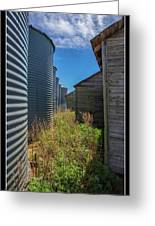 Back Alley On The Prairies Greeting Card