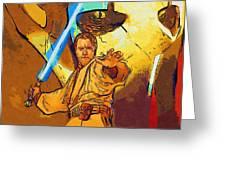 Star Wars Galactic Heroes Poster Greeting Card
