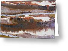 21. V2 Rustic Brown, Red And White Glaze Painting Greeting Card