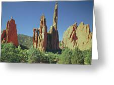 210806-h Spires In Garden Of The Gods Greeting Card