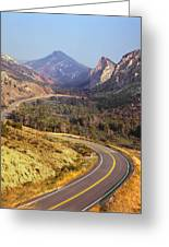 212308 Road To Sheep Creek Canyon Greeting Card