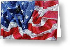 American Flag 40 Greeting Card