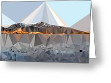 Abstract Art Landscape Of Triangles Greeting Card