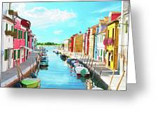 Burano Italy Greeting Card