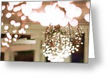 Christmas Lights Holiday Decorations Around Charlotte North Caro Greeting Card