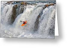 Kayaking Greeting Card