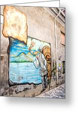 Mural Painting In Saludecio Greeting Card