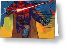 Video Star Wars Art Greeting Card