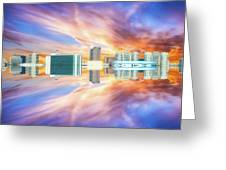22nd Century Floating Cities Sunrise 01 Greeting Card