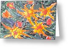 Digital Flower Painting Greeting Card