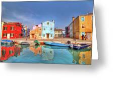 Burano Venice Italy Greeting Card