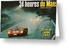 24 Hours Of Le Mans - 1971 Greeting Card