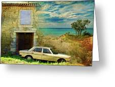 24 Hr Parking By The Beach Greeting Card
