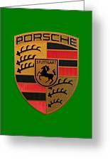 Porsche Label Greeting Card
