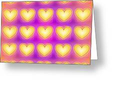 25 Little Yellow Love Hearts Greeting Card