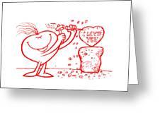 Mr Redhair Serie Greeting Card