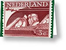 Old Dutch Postage Stamp Greeting Card