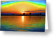 25- Psychedelic Sunrise Greeting Card