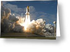 Space Shuttle Atlantis Lifts Greeting Card by Stocktrek Images