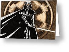 Star Wars On Art Greeting Card