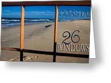 26 Windows Coastal Greeting Card