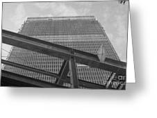World Trade Center Under Construction 1967 Greeting Card