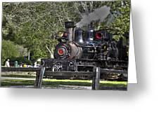 267 - Roaring Camp Train No 7 Hdr Greeting Card