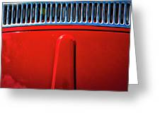 2674- Red Volkswagen  Greeting Card