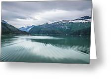 Glacier And Mountains Landscapes In Wild And Beautiful Alaska Greeting Card