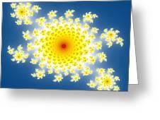 Fractal Floral Pattern Greeting Card