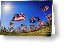 Pepperdine Flag Salute Greeting Card