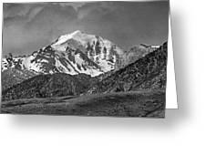 2d07508-bw High Peak In Lost River Range Greeting Card