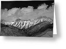 2d07509-bw High Peaks In Lost River Range Greeting Card