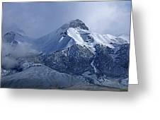 2d07513 Fresh Snow On Mt. Mccaleb Greeting Card