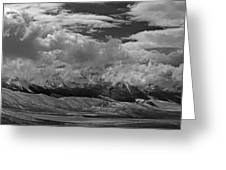 2d07517-bw Storm Over Lost River Range Greeting Card