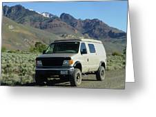 2da5944-dc Our Sportsmobile At Steens Mountain Greeting Card