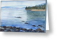 2nd Beach, Vancouver Greeting Card