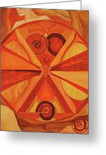 2nd Mandala - Sacral Chakra Greeting Card