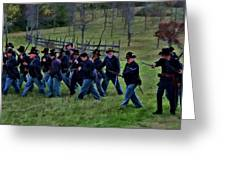 2nd Wi Infantry Black Hats Greeting Card