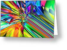 2x1 Abstract 308 Greeting Card