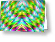 2x1 Abstract 341 Greeting Card