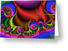 2x1 Abstract 347 Greeting Card