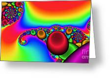 2x1 Abstract 356 Greeting Card