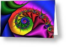 2x1 Abstract 413 Greeting Card